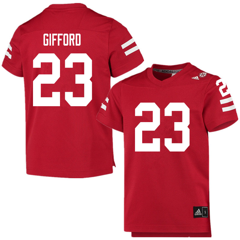 Men #23 Isaac Gifford Nebraska Cornhuskers College Football Jerseys Sale-Scarlet