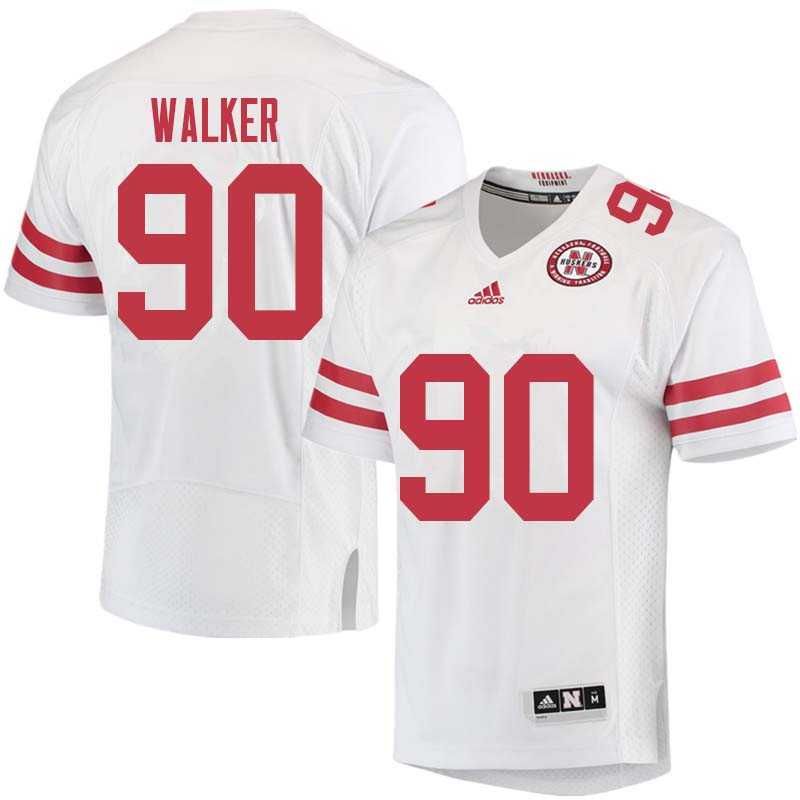 Men #90 Jackson Walker Nebraska Cornhuskers College Football Jerseys Sale-White