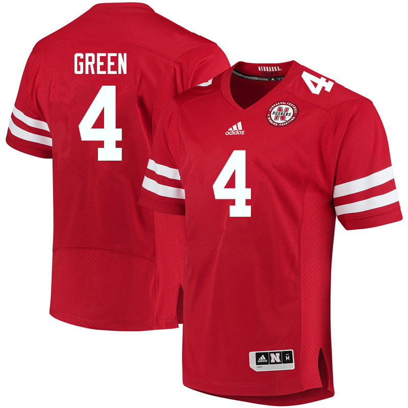 Men #4 Jahkeem Green Nebraska Cornhuskers College Football Jerseys Sale-Red