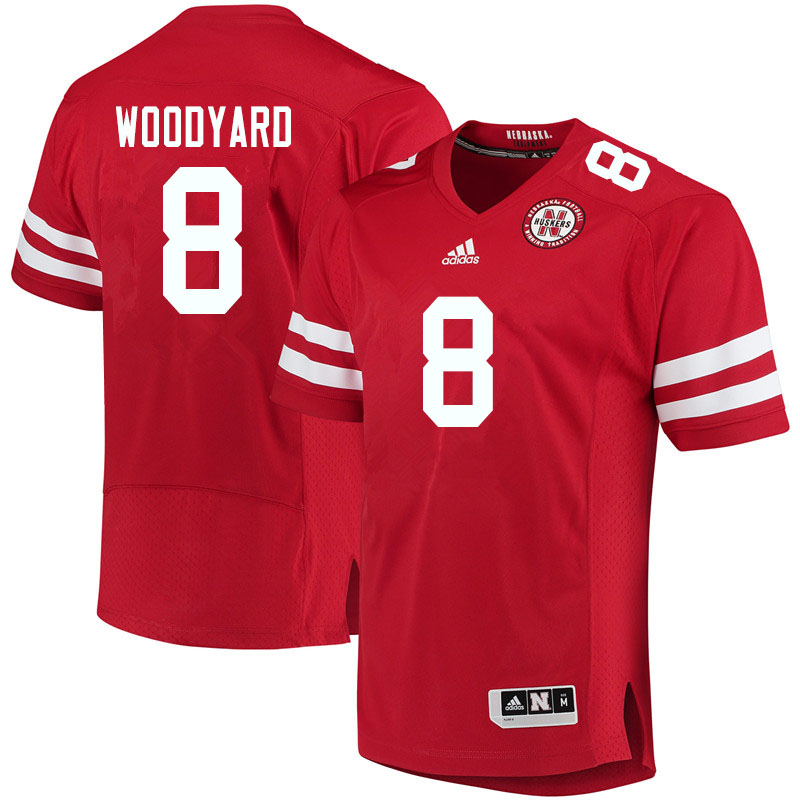 Men #8 Jaron Woodyard Nebraska Cornhuskers College Football Jerseys Sale-Red