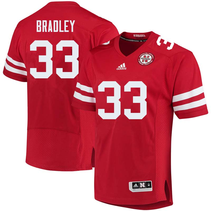 Men #33 Jaylin Bradley Nebraska Cornhuskers College Football Jerseys Sale-Red
