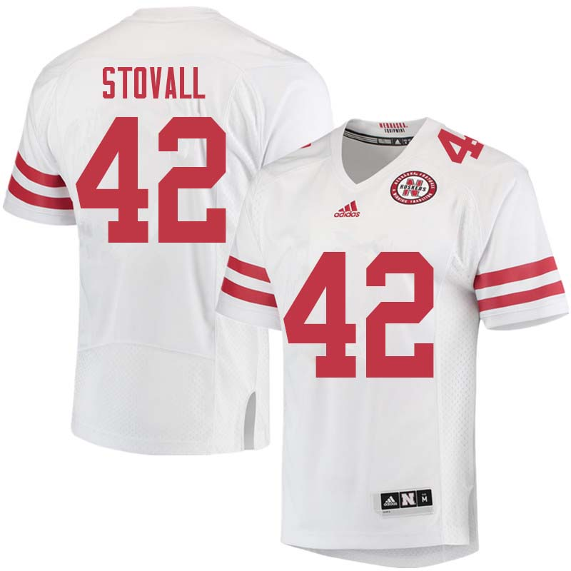 Men #42 Jeramiah Stovall Nebraska Cornhuskers College Football Jerseys Sale-White