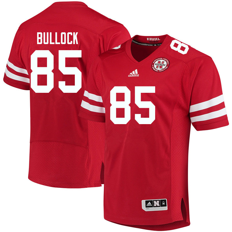 Men #85 John Bullock Nebraska Cornhuskers College Football Jerseys Sale-Red
