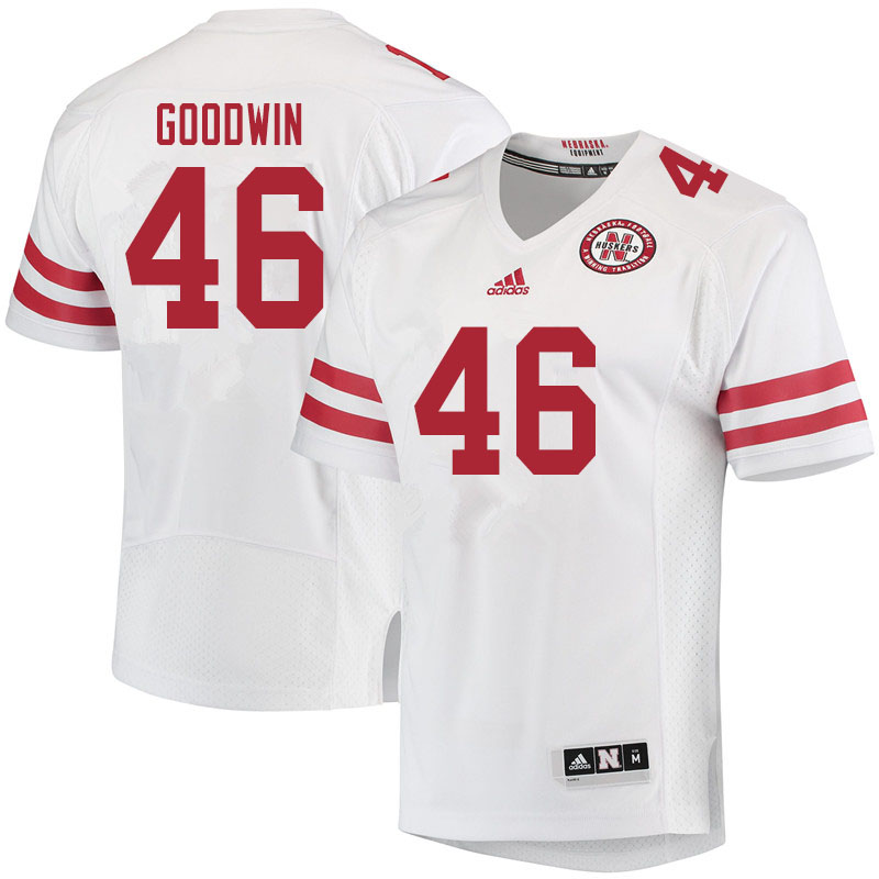 Men #46 John Goodwin Nebraska Cornhuskers College Football Jerseys Sale-White