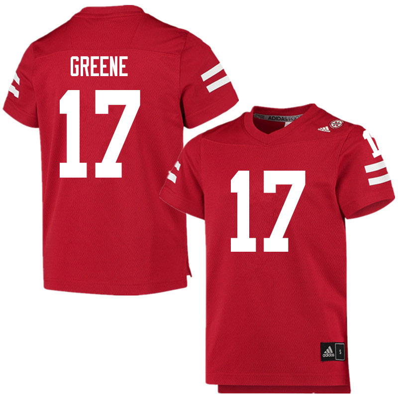 Men #17 Keyshawn Greene Nebraska Cornhuskers College Football Jerseys Sale-Scarlet