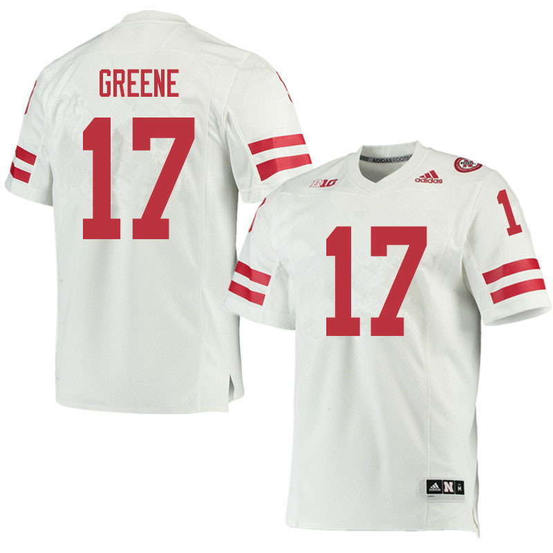 Men #17 Keyshawn Greene Nebraska Cornhuskers College Football Jerseys Sale-White
