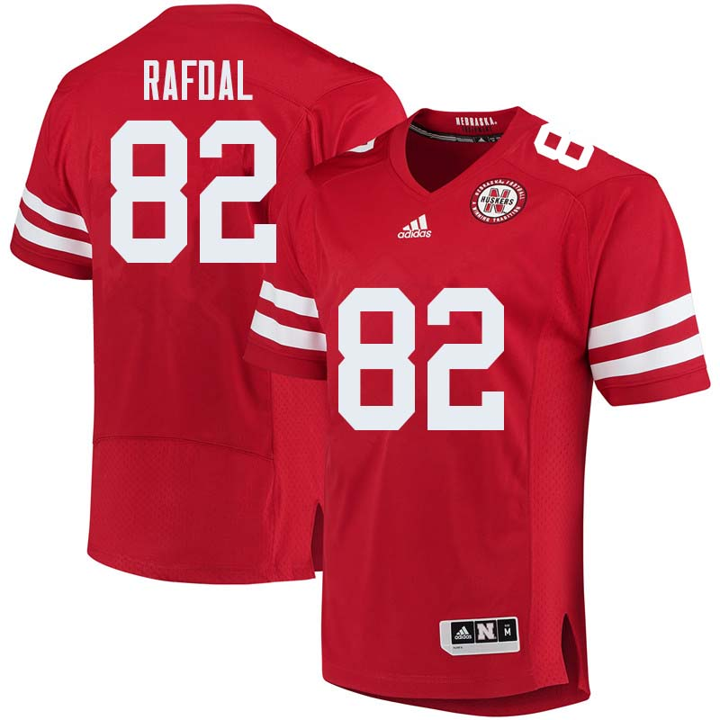 Men #82 Kurt Rafdal Nebraska Cornhuskers College Football Jerseys Sale-Red