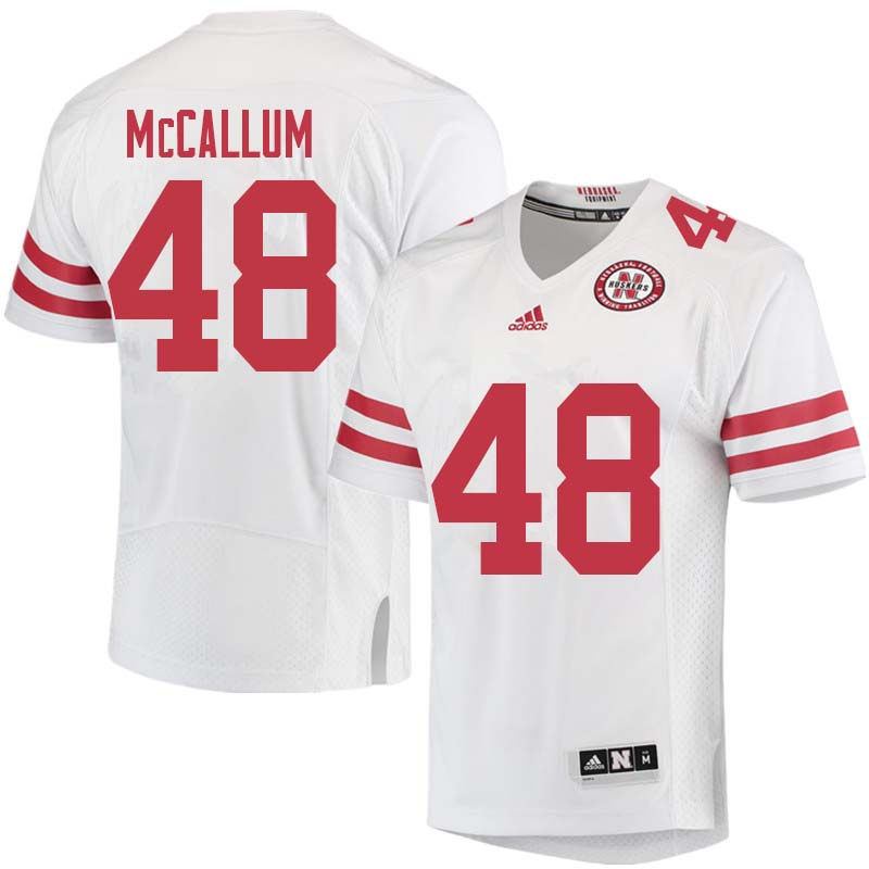 Men #48 Lane McCallum Nebraska Cornhuskers College Football Jerseys Sale-White