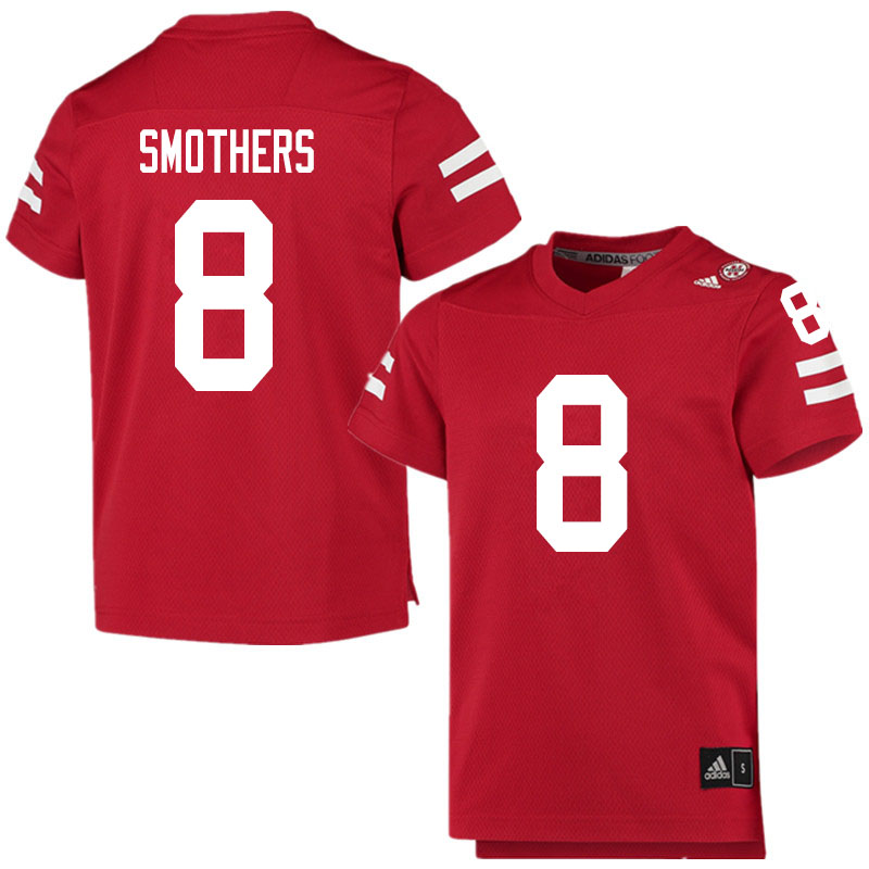 Men #8 Logan Smothers Nebraska Cornhuskers College Football Jerseys Sale-Scarlet