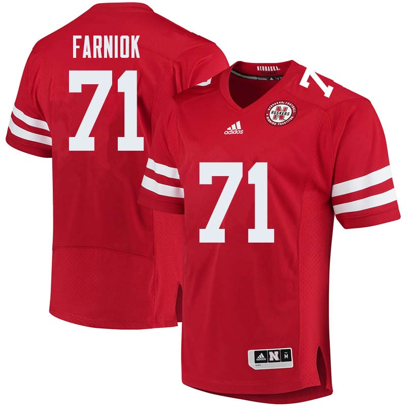 Men #71 Matt Farniok Nebraska Cornhuskers College Football Jerseys Sale-Red