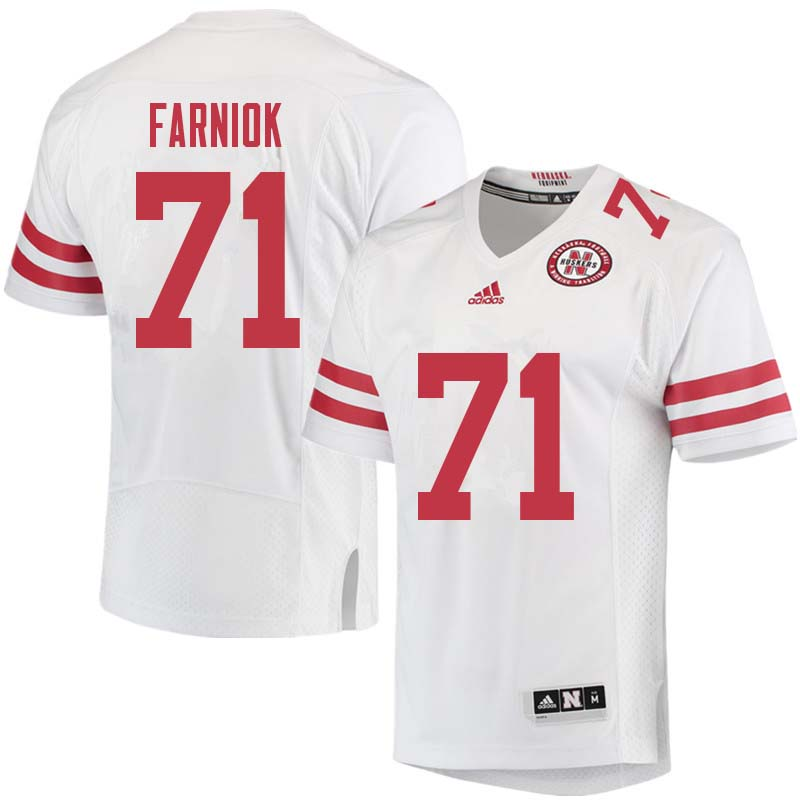 Men #71 Matt Farniok Nebraska Cornhuskers College Football Jerseys Sale-White