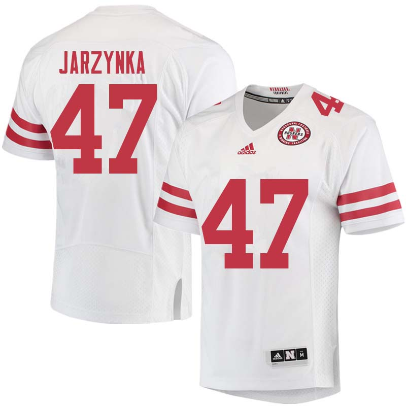 Men #47 Matt Jarzynka Nebraska Cornhuskers College Football Jerseys Sale-White