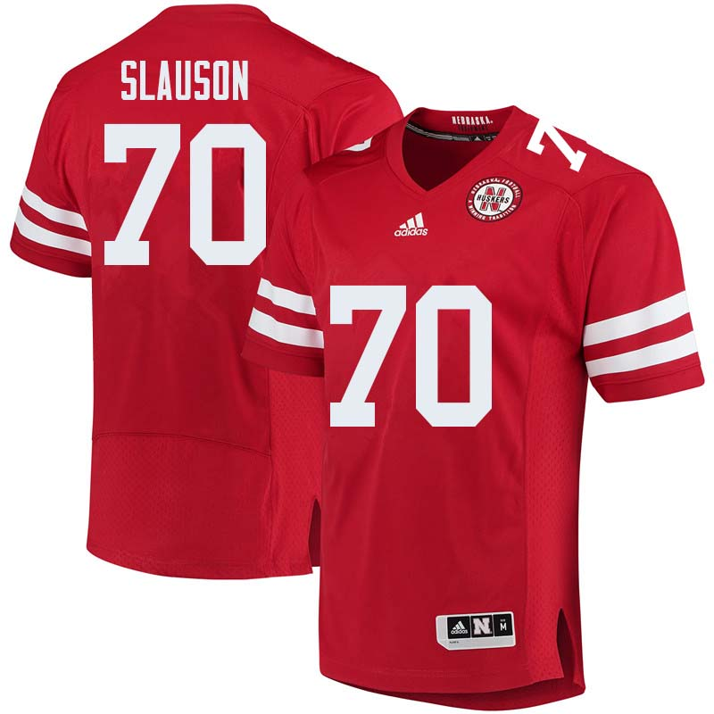 Men #70 Matt Slauson Nebraska Cornhuskers College Football Jerseys Sale-Red