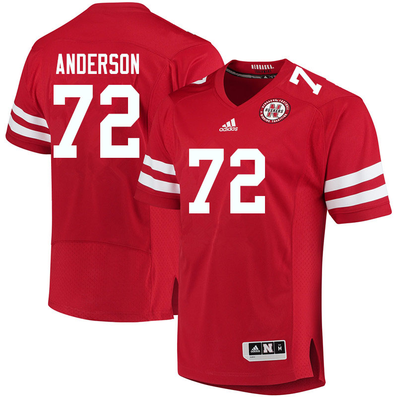 Men #72 Matthew Anderson Nebraska Cornhuskers College Football Jerseys Sale-Red