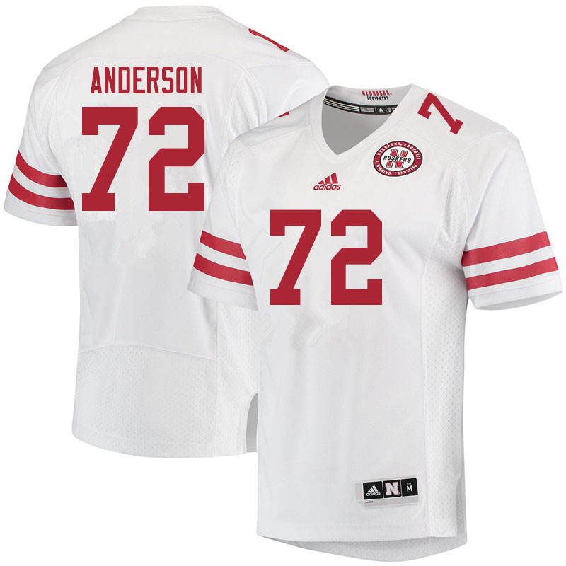 Men #72 Matthew Anderson Nebraska Cornhuskers College Football Jerseys Sale-White