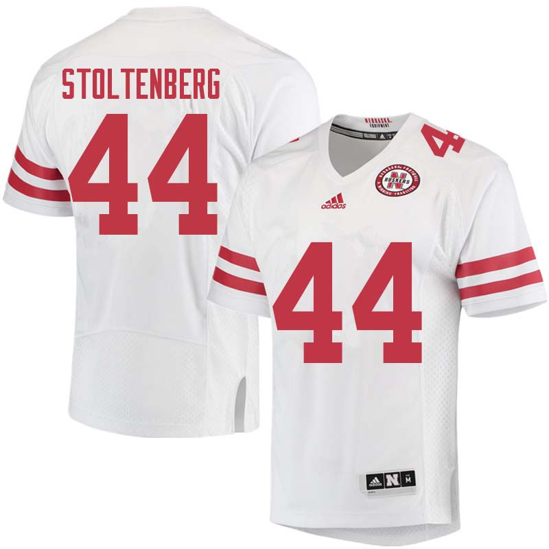 Men #44 Mick Stoltenberg Nebraska Cornhuskers College Football Jerseys Sale-White