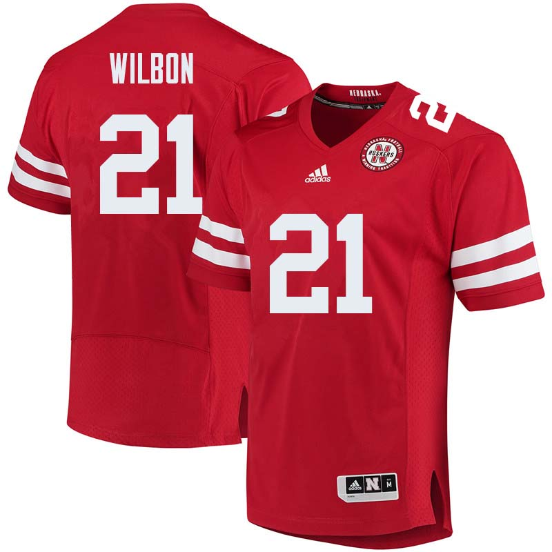 Men #21 Mikale Wilbon Nebraska Cornhuskers College Football Jerseys Sale-Red