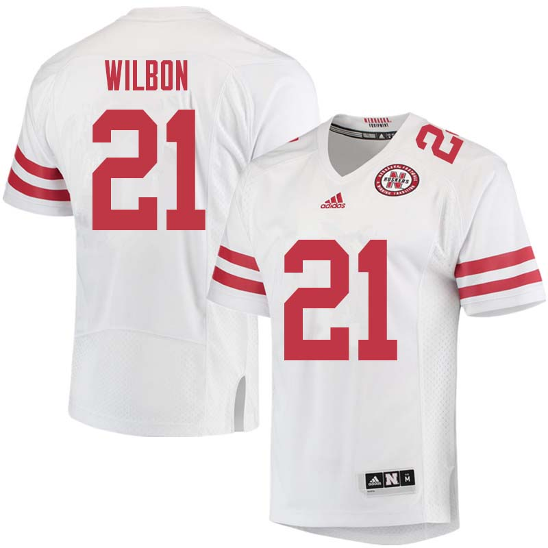 Men #21 Mikale Wilbon Nebraska Cornhuskers College Football Jerseys Sale-White
