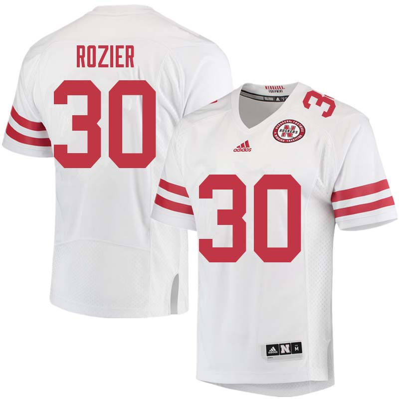 Men #30 Mike Rozier Nebraska Cornhuskers College Football Jerseys Sale-White