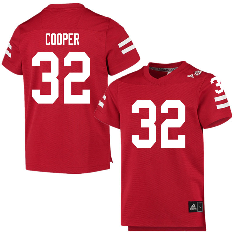 Men #32 Niko Cooper Nebraska Cornhuskers College Football Jerseys Sale-Scarlet