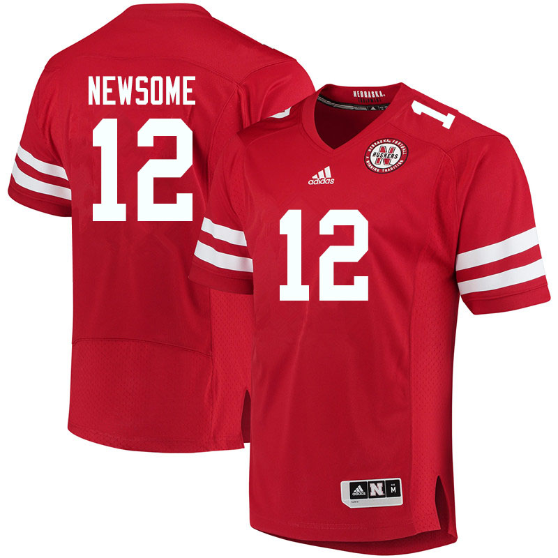 Men #12 Quinton Newsome Nebraska Cornhuskers College Football Jerseys Sale-Red