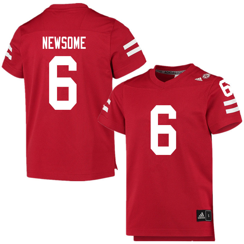 Men #6 Quinton Newsome Nebraska Cornhuskers College Football Jerseys Sale-Scarlet