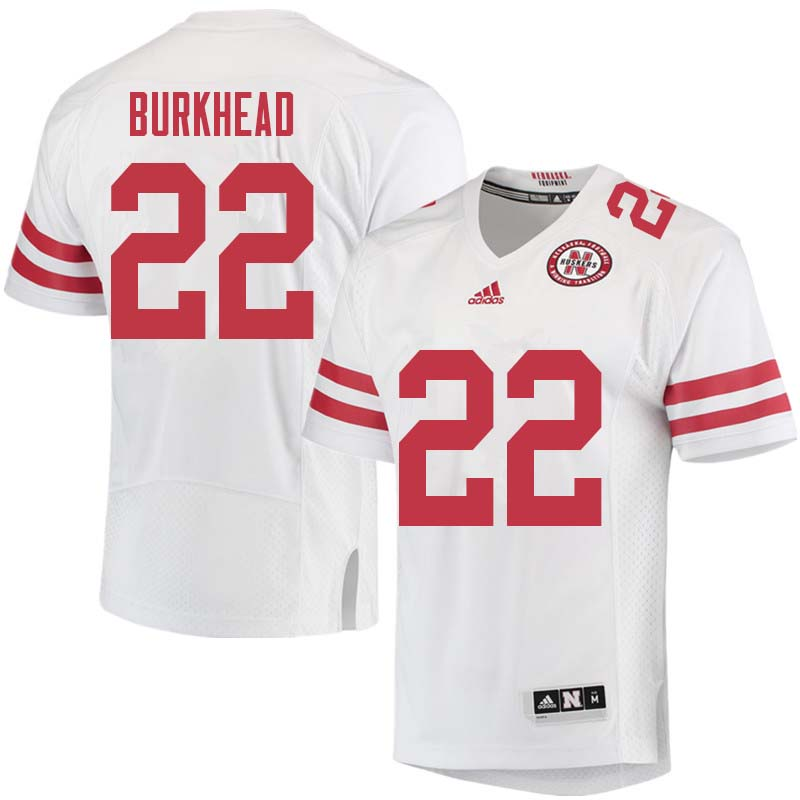 Men #22 Rex Burkhead Nebraska Cornhuskers College Football Jerseys Sale-White
