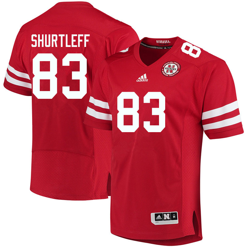 Men #83 Sam Shurtleff Nebraska Cornhuskers College Football Jerseys Sale-Red