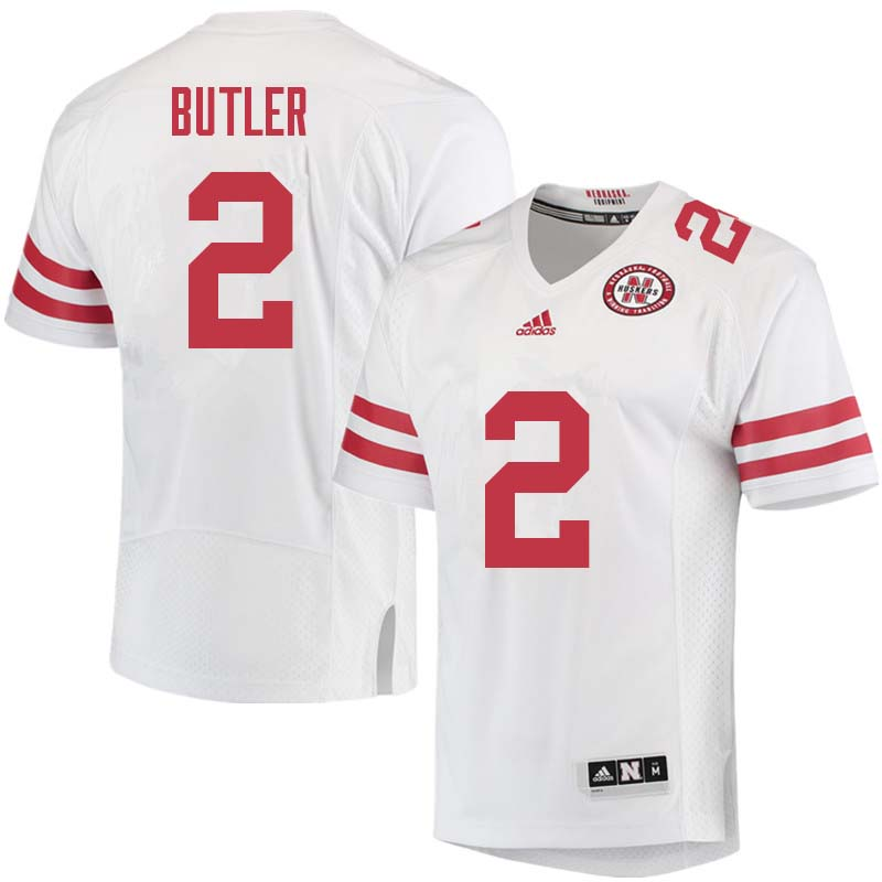 Men #2 Tony Butler Nebraska Cornhuskers College Football Jerseys Sale-White