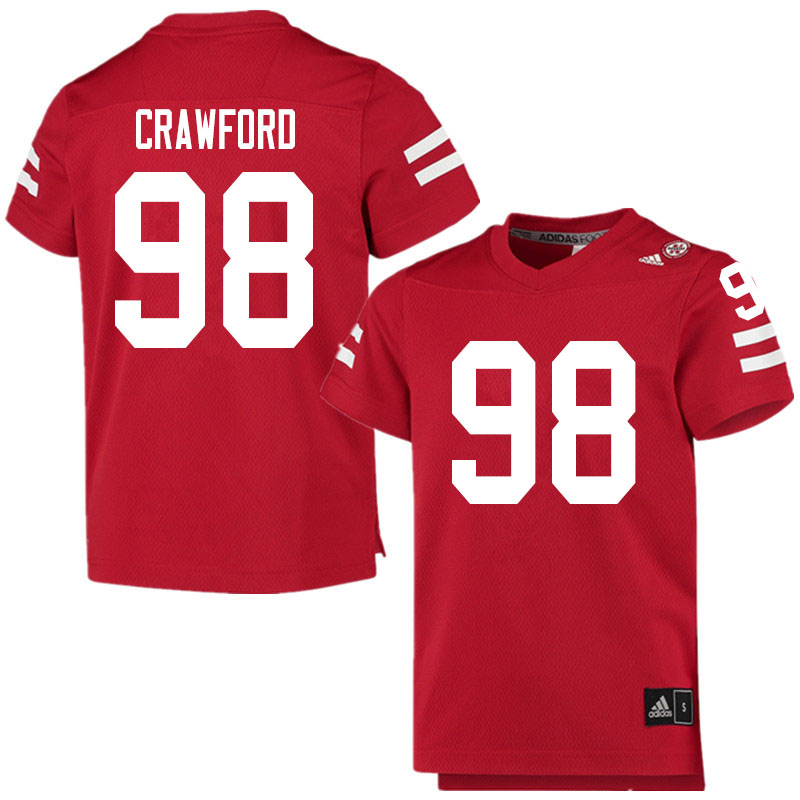 Men #98 Tyler Crawford Nebraska Cornhuskers College Football Jerseys Sale-Scarlet