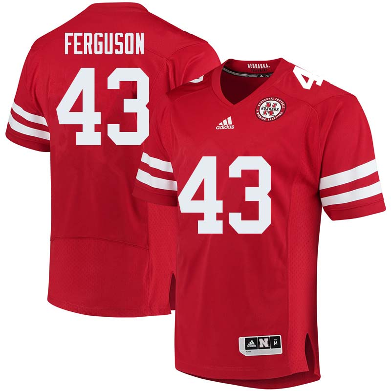 Men #43 Tyrin Ferguson Nebraska Cornhuskers College Football Jerseys Sale-Red