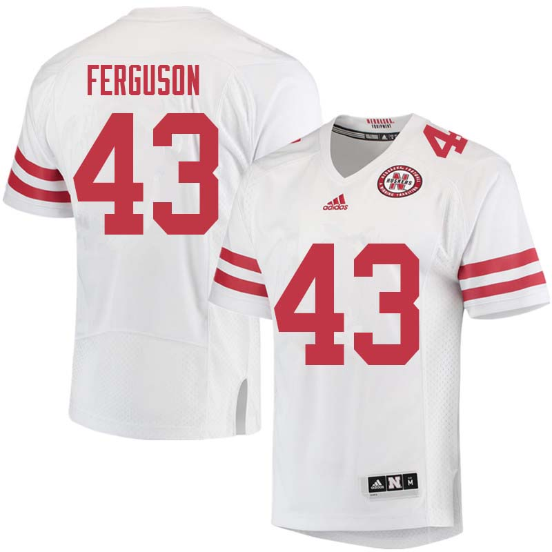 Men #43 Tyrin Ferguson Nebraska Cornhuskers College Football Jerseys Sale-White