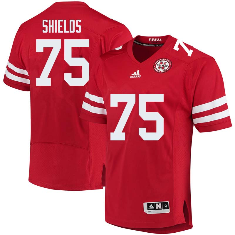 Men #75 Will Shields Nebraska Cornhuskers College Football Jerseys Sale-Red