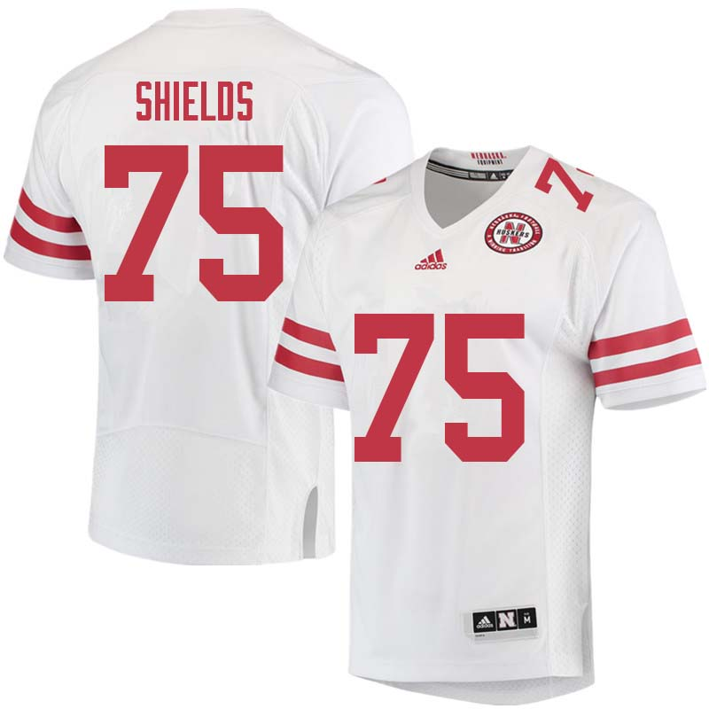 Men #75 Will Shields Nebraska Cornhuskers College Football Jerseys Sale-White
