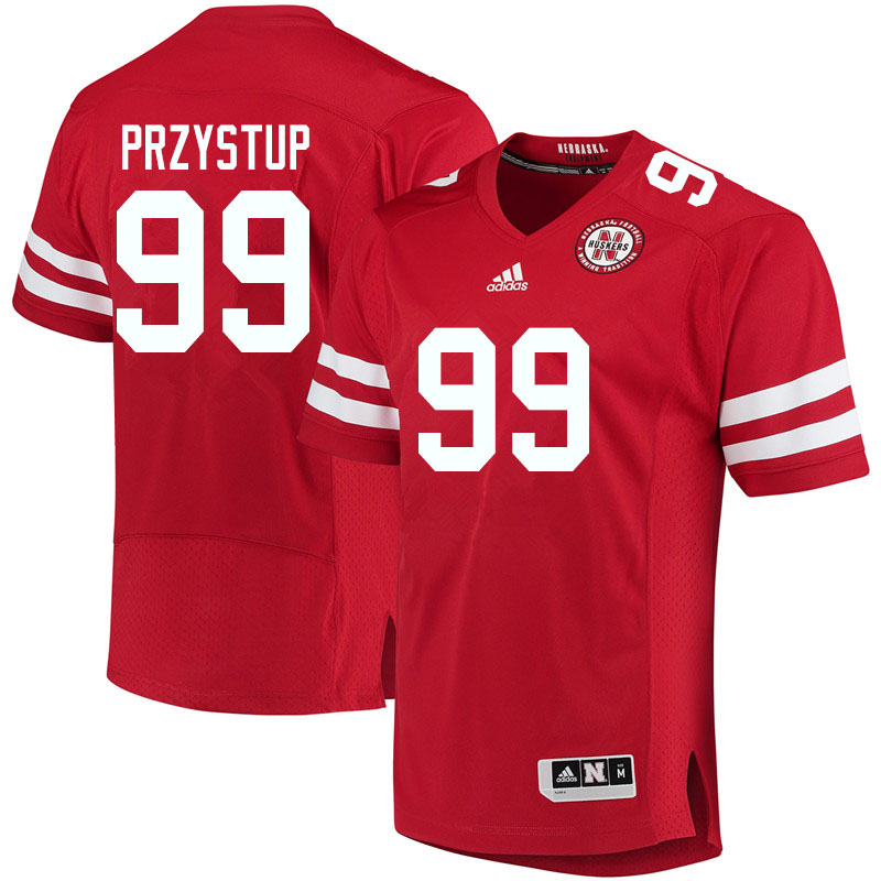 Men #99 William Przystup Nebraska Cornhuskers College Football Jerseys Sale-Red
