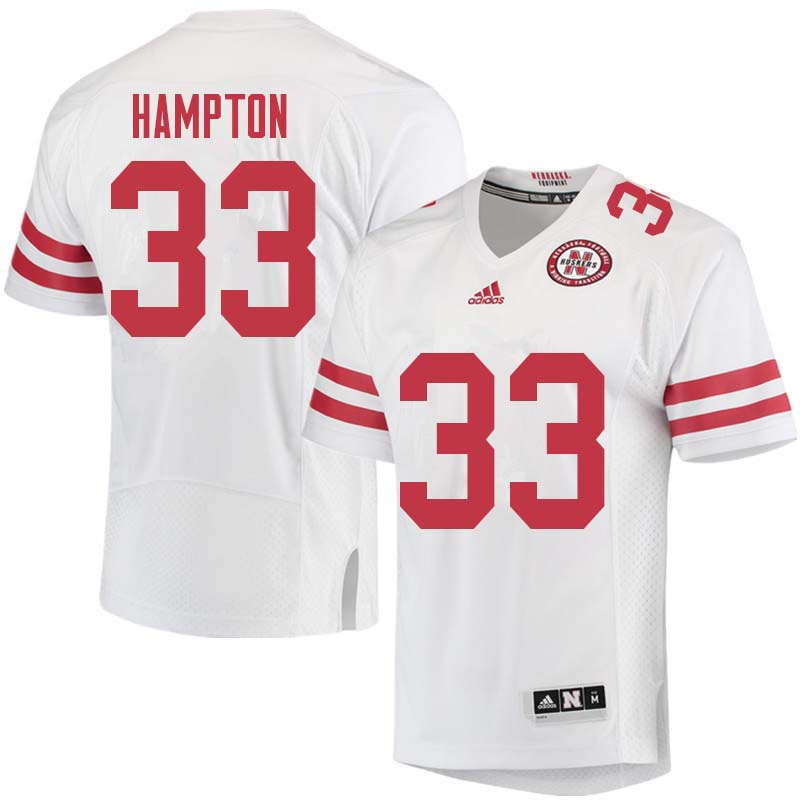 Men #33 Willie Hampton Nebraska Cornhuskers College Football Jerseys Sale-White