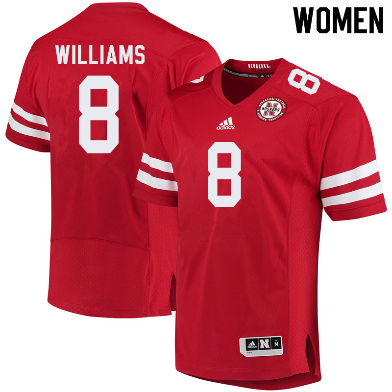 Women #8 Deontai Williams Nebraska Cornhuskers College Football Jerseys Sale-Red