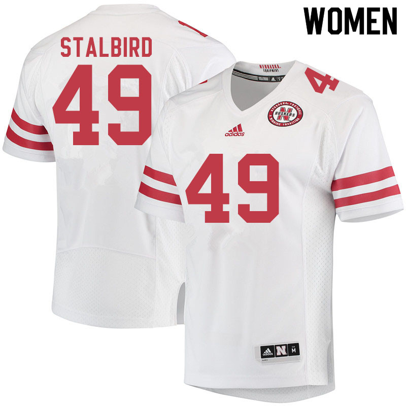 Women #49 Isaiah Stalbird Nebraska Cornhuskers College Football Jerseys Sale-White