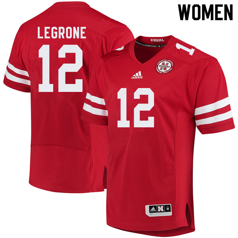 Women #12 Katerian LeGrone Nebraska Cornhuskers College Football Jerseys Sale-Red