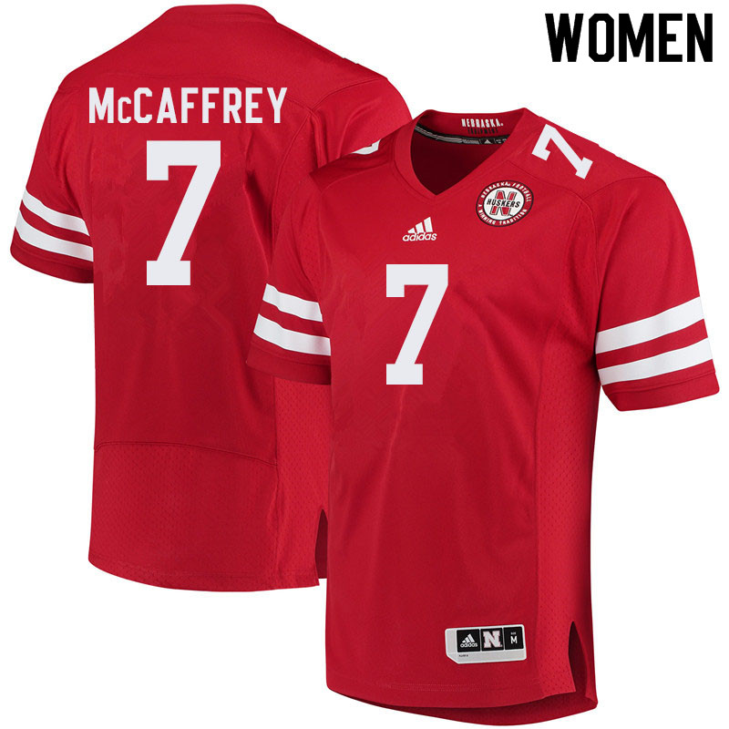 Women #7 Luke McCaffrey Nebraska Cornhuskers College Football Jerseys Sale-Red