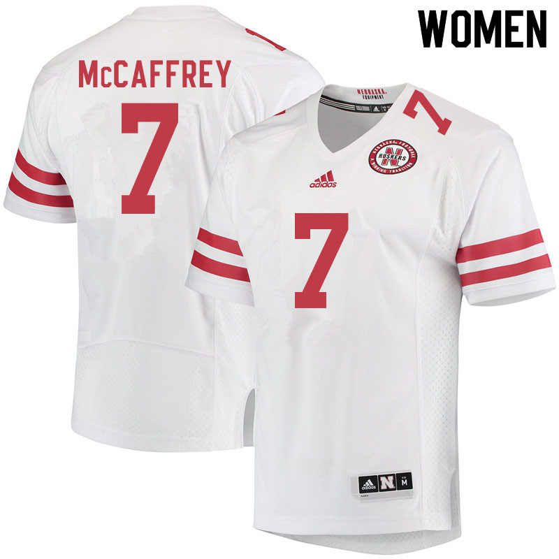 Women #7 Luke McCaffrey Nebraska Cornhuskers College Football Jerseys Sale-White