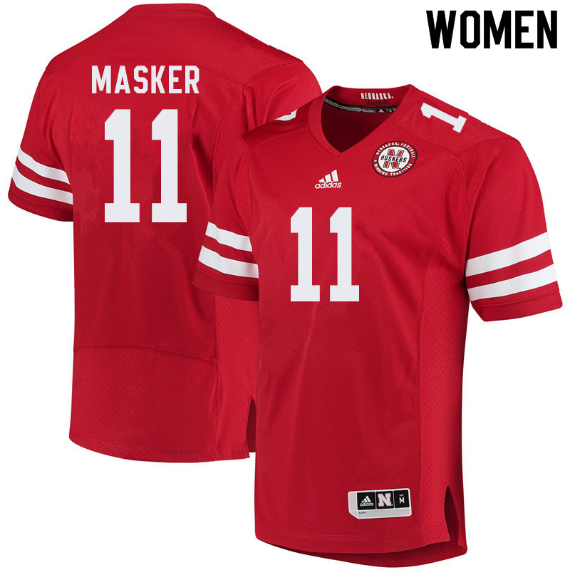 Women #11 Matt Masker Nebraska Cornhuskers College Football Jerseys Sale-Red