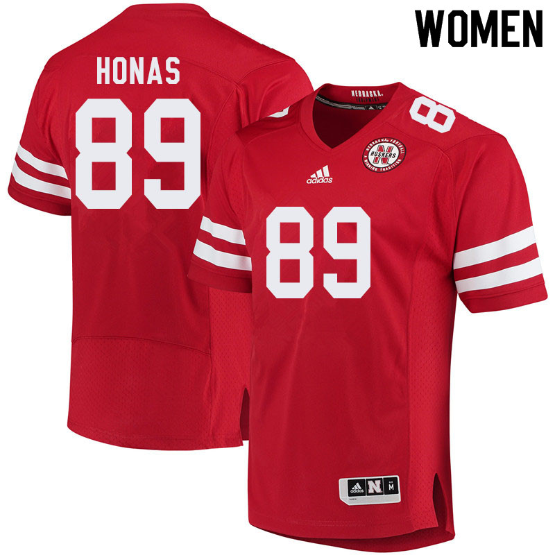 Women #89 Todd Honas Nebraska Cornhuskers College Football Jerseys Sale-Red