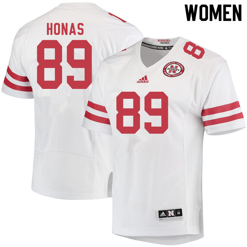 Women #89 Todd Honas Nebraska Cornhuskers College Football Jerseys Sale-White