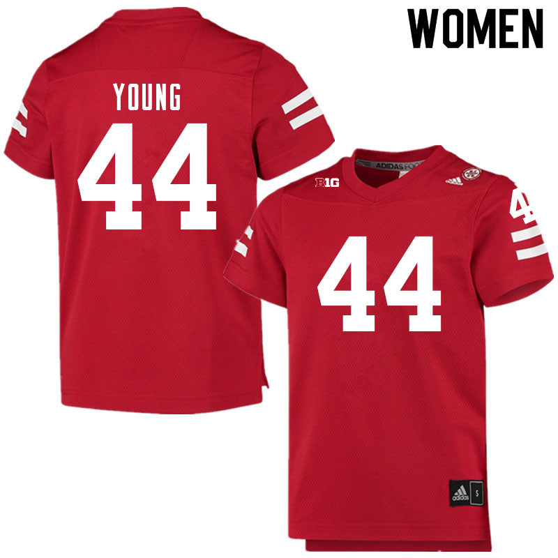 Women #44 Aiden Young Nebraska Cornhuskers College Football Jerseys Sale-Scarlet