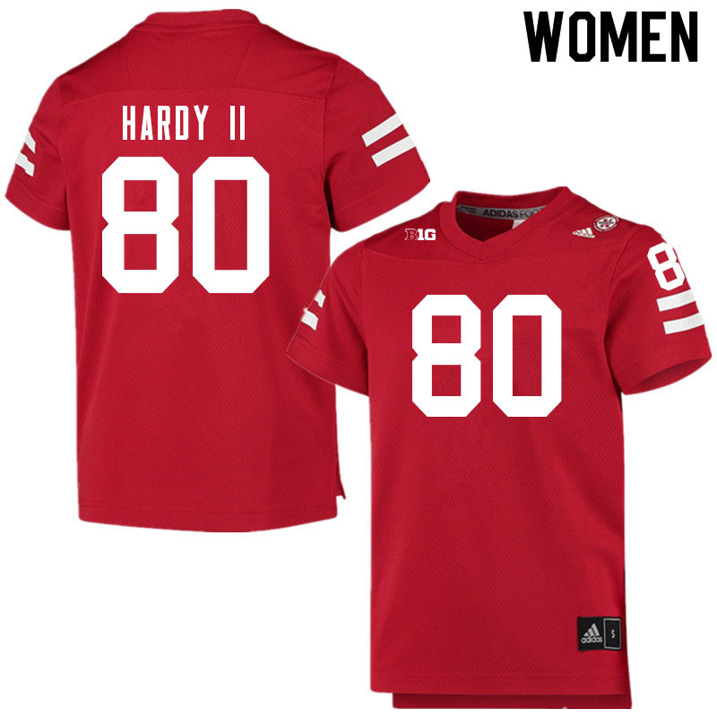 Women #80 Shawn Hardy II Nebraska Cornhuskers College Football Jerseys Sale-Scarlet