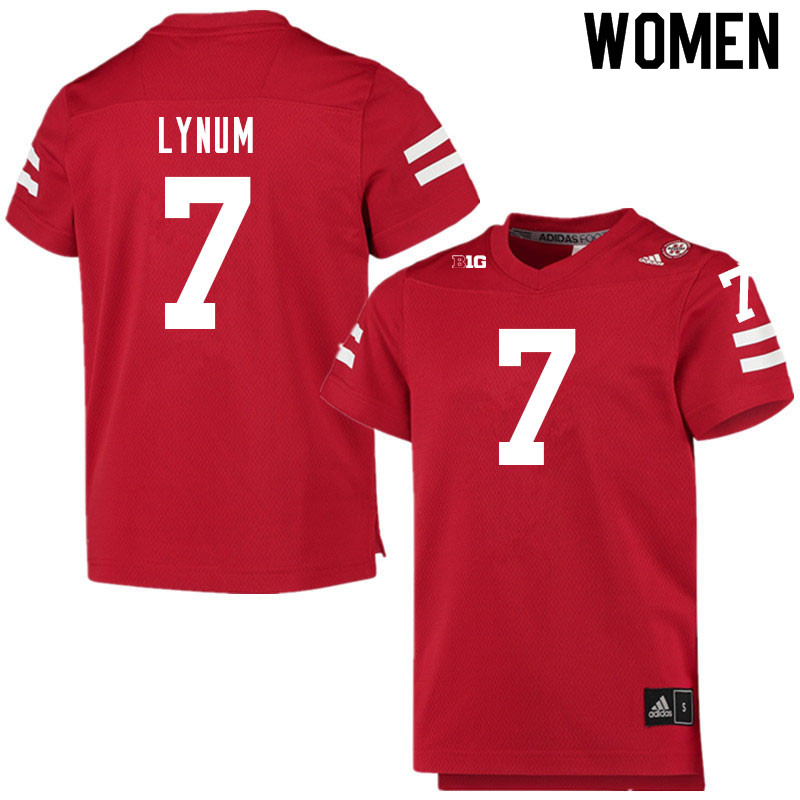 Women #7 Tamon Lynum Nebraska Cornhuskers College Football Jerseys Sale-Scarlet