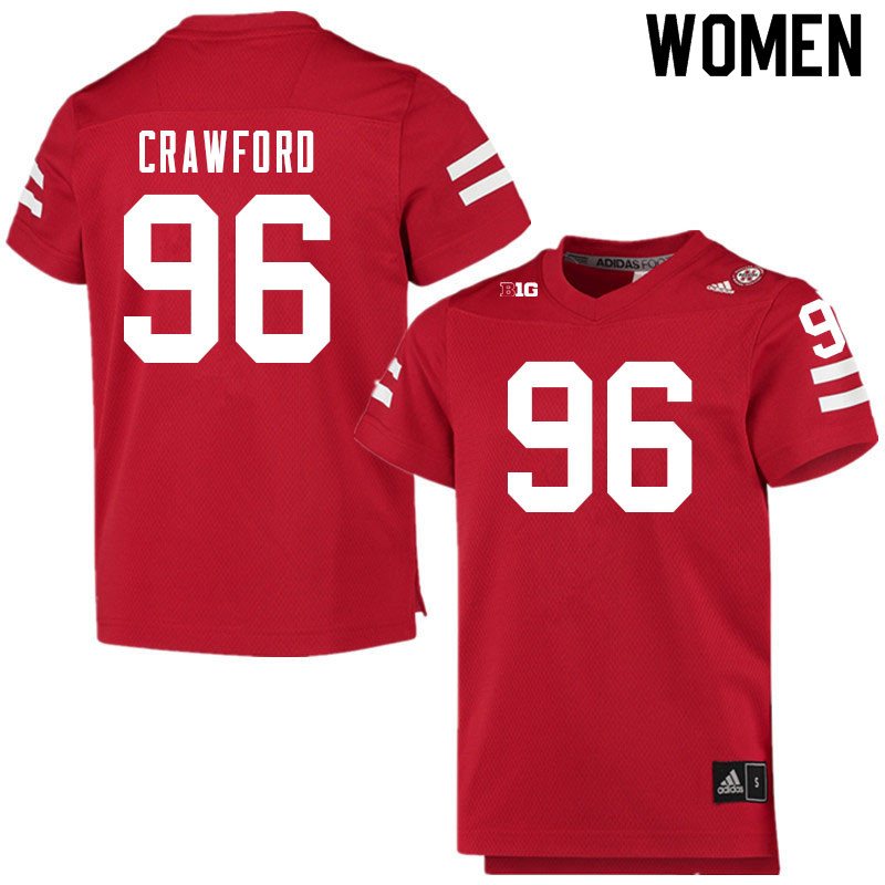 Women #96 Tyler Crawford Nebraska Cornhuskers College Football Jerseys Sale-Scarlet