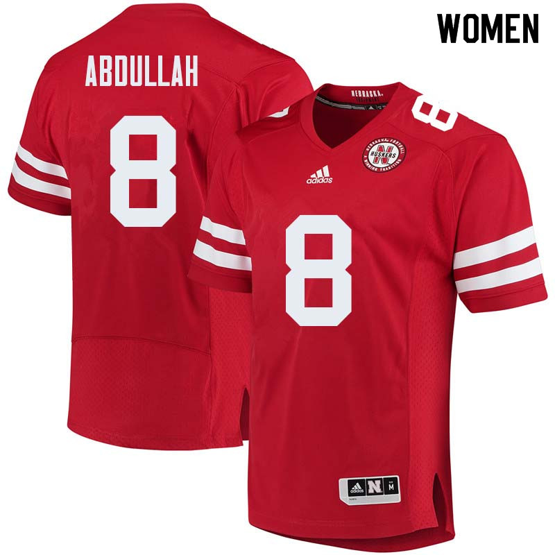 Women #8 Ameer Abdullah Nebraska Cornhuskers College Football Jerseys Sale-Red