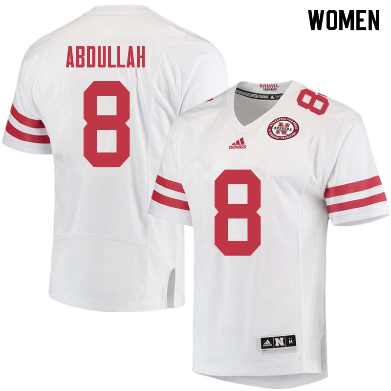 Women #8 Ameer Abdullah Nebraska Cornhuskers College Football Jerseys Sale-White